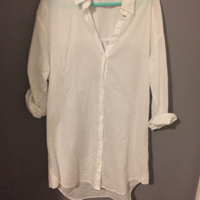 Aritzia Community Cotton Shirt Dress Size S