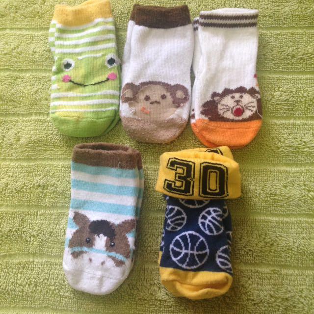 Assorted baby socks