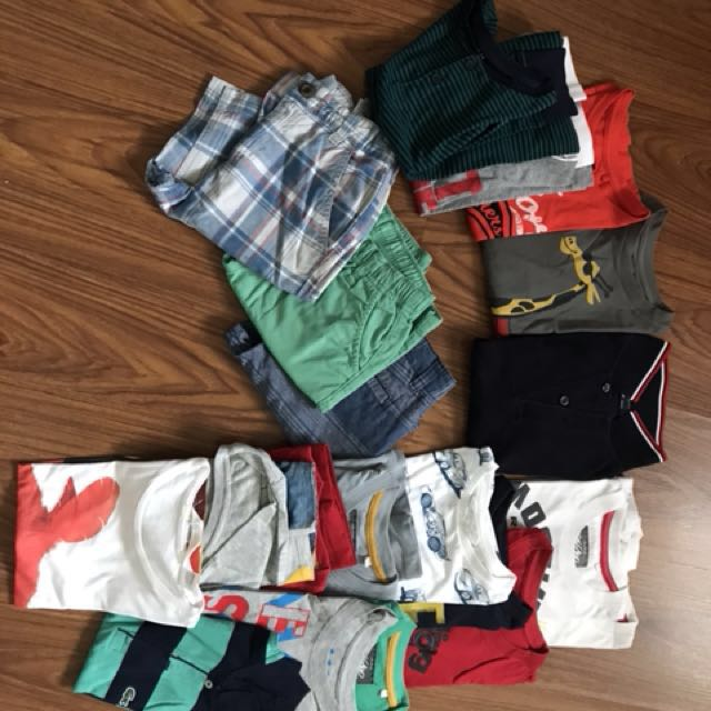 assorted boys clothes