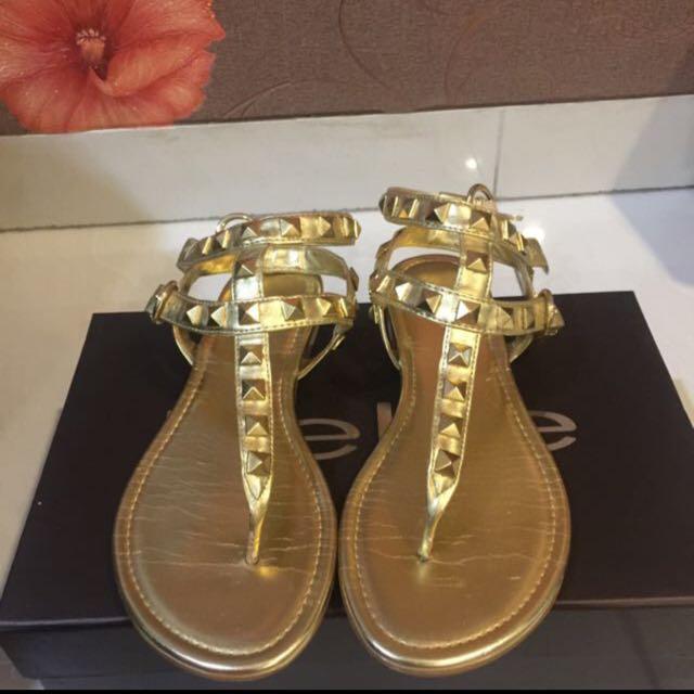 Bebe gold stud sandals