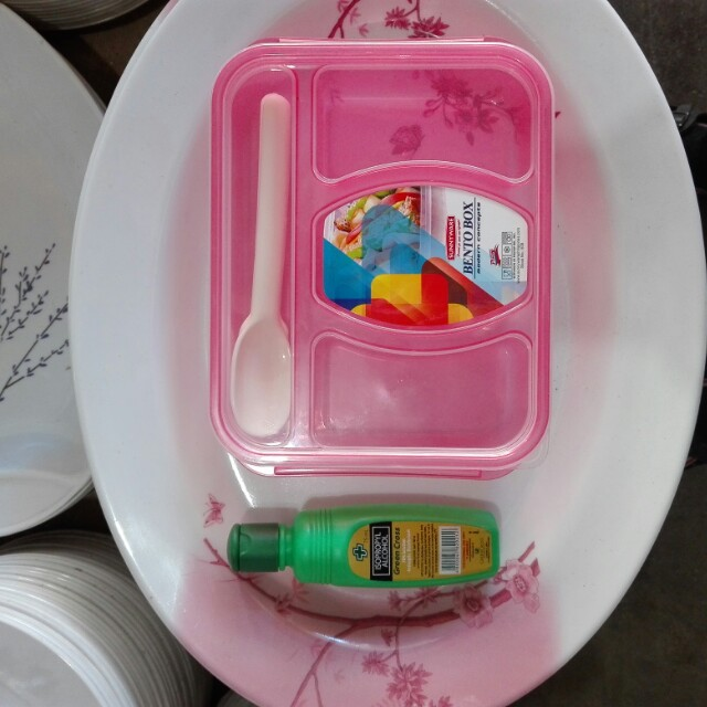 Bento Box Baon with spoon and fork