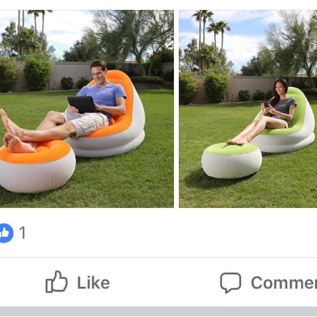 BESTWAY INFLATABLE SOFA W/ STOOL
