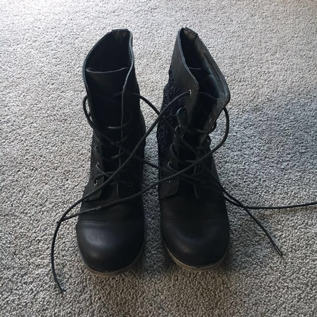 Black Lacey boots