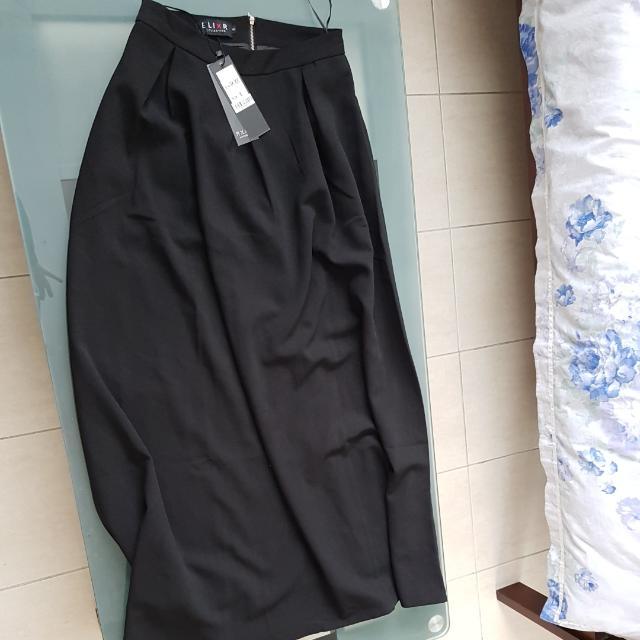 Black Puffy Skirt