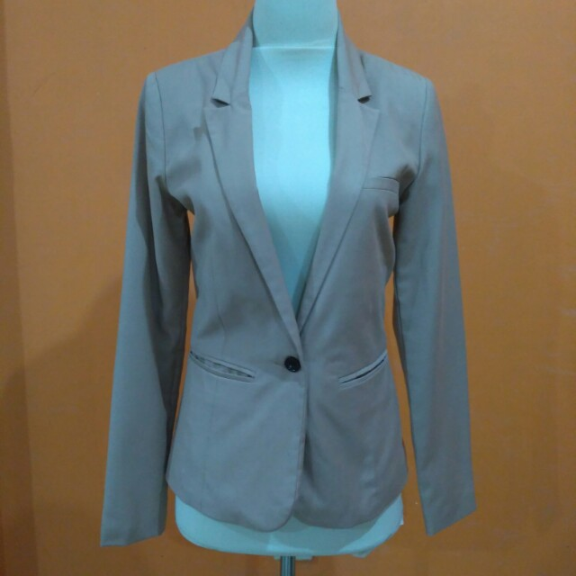 Blazer PullandBear dusty pink