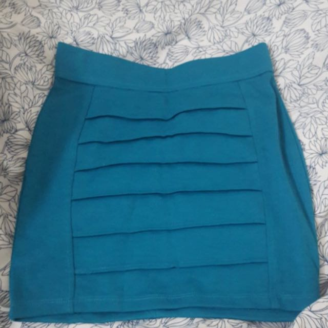 Blue fitted skirt xs