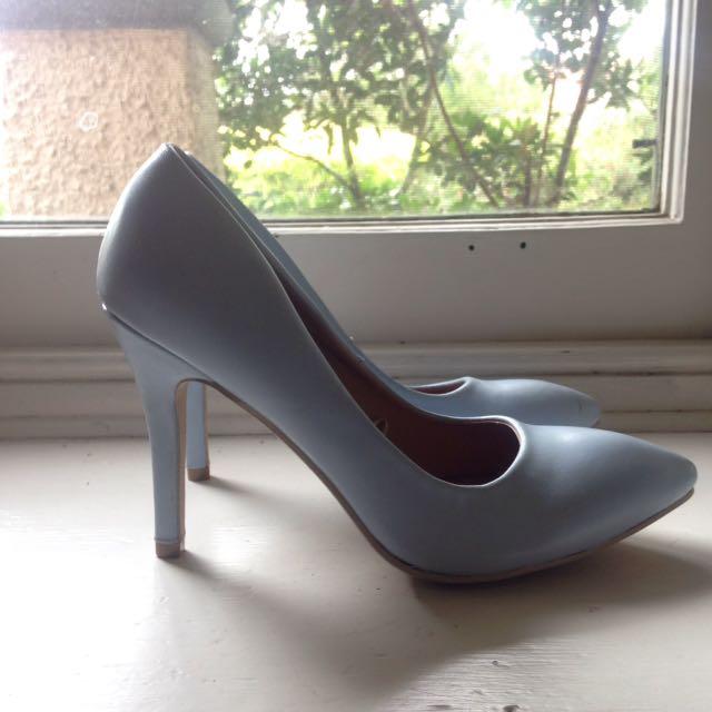 Blue Pastel Heels