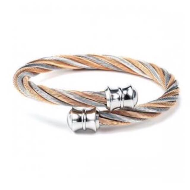 BNEW ORIG Charriol Two Tone Rose Gold Bangle (small & medium)