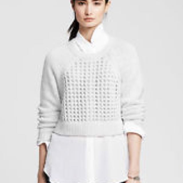 BNWT Banana Republic Mesh Cropped Pullover