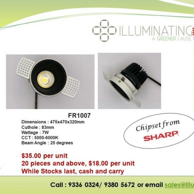 Brand new, cheap Japan sharp led downlight for new homes
