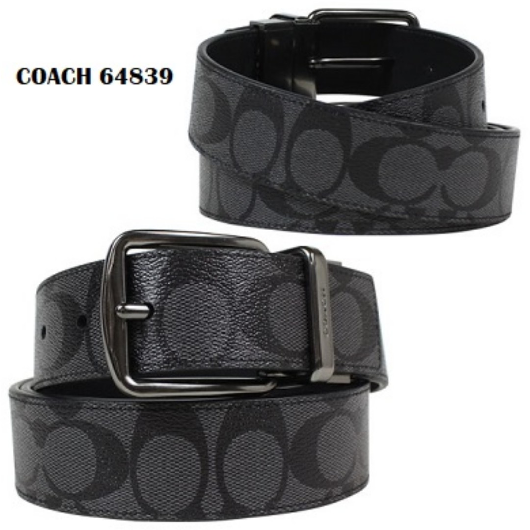 9c44cb8bc4cf Brand New With Defect Coach Cut-To-Size Reversible Signature Belt ...