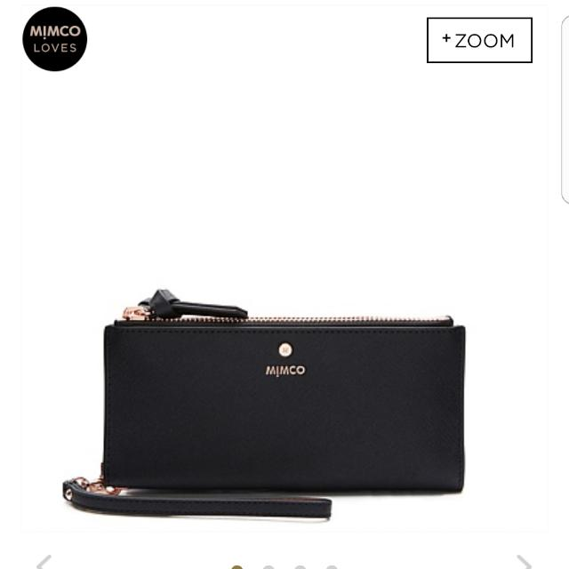 Brand New Mimco Wallet Black With Rose Gold