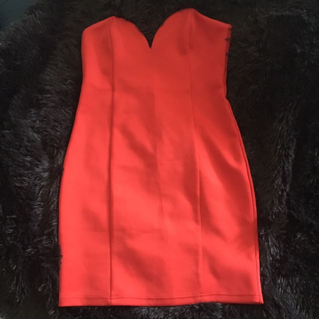 Bright Red Cocktail Dress