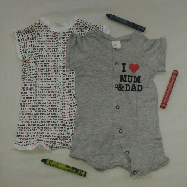 Bundle: H&M Onesies for Baby Boys, Size: Newborn to 3mos.