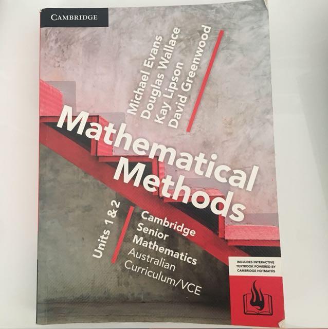 Cambridge Mathematical Methods Unit 1&2