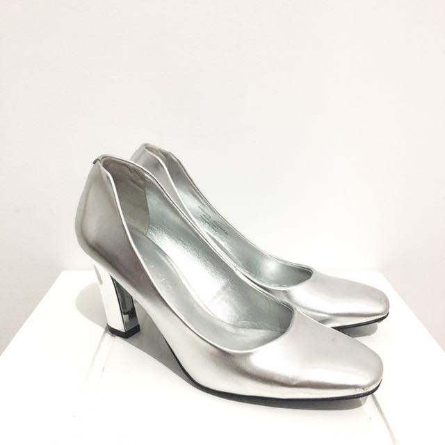 Charles and keith metallic shoes