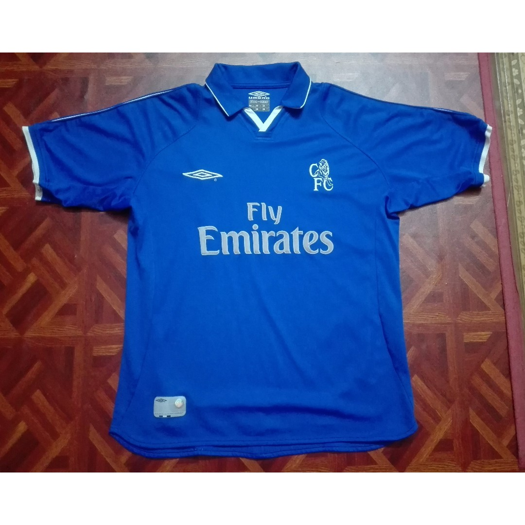 new style 58e66 bd6c7 CHELSEA HOME JERSEY 2001-2003
