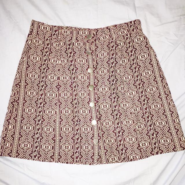 Chicabooti Aztec print skirt