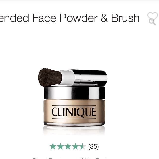 Clinique blended fact powder