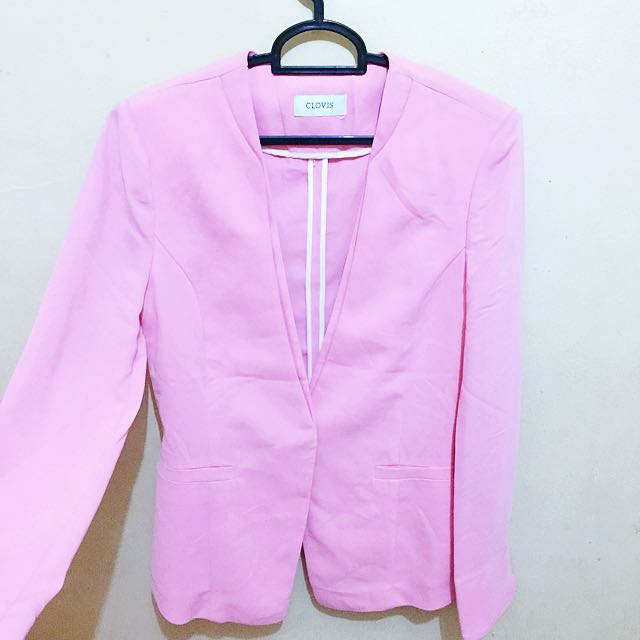 Clovis pink blazer