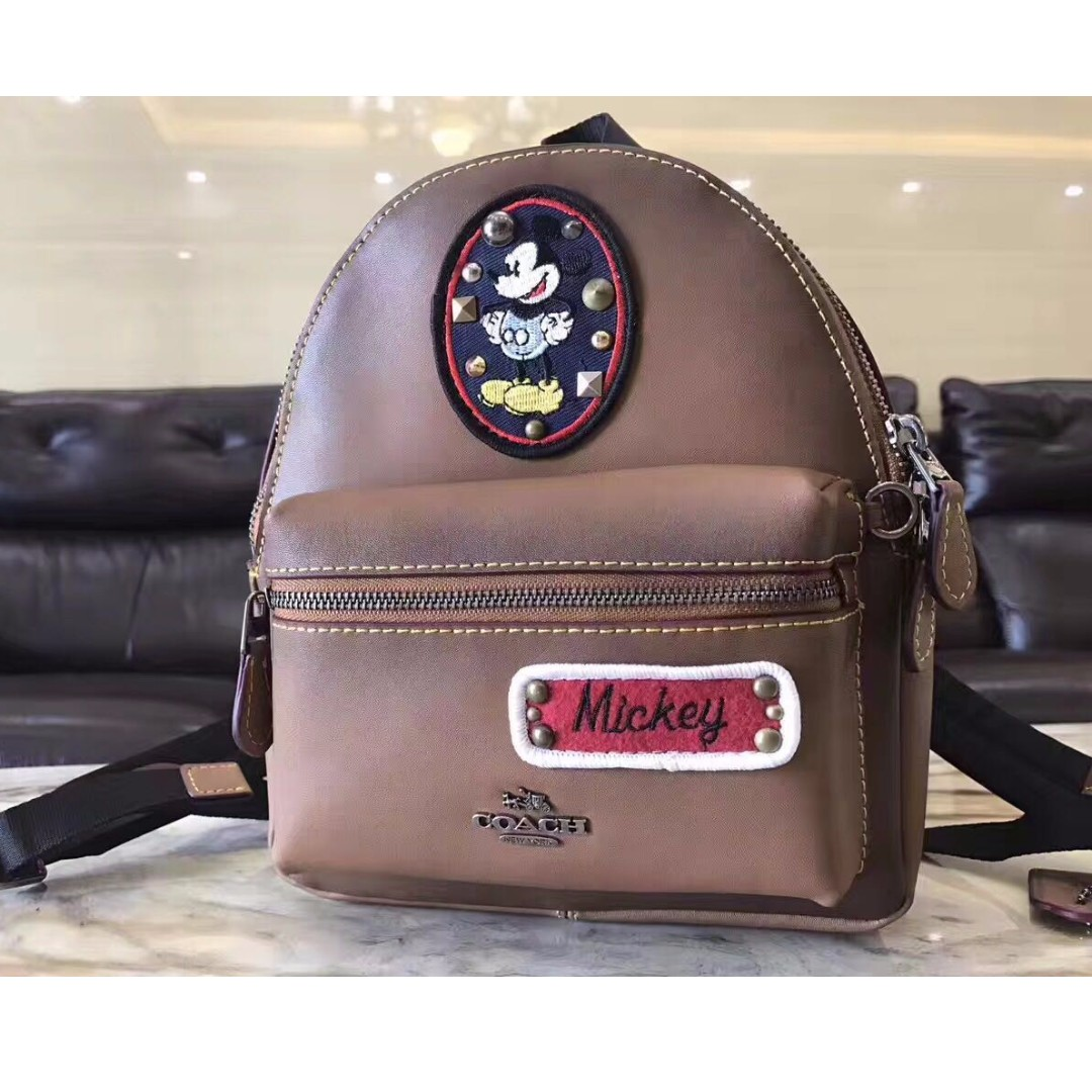 424f836a7cd ... spain coach disney edition leather backpack brown luxury bags wallets  24259 97386