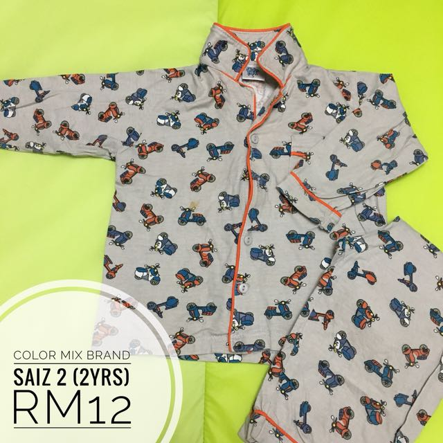Color Mix brand pyjama set saiz 2