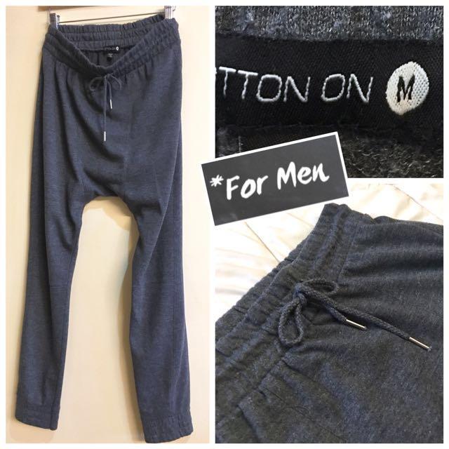 Cotton On Men's Dropped Crotch Cotton Joggers (M)