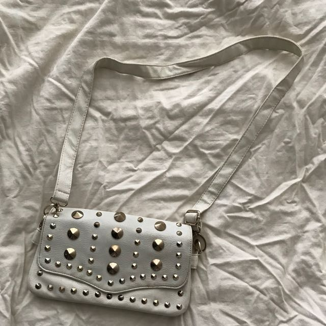 Cross studded bag