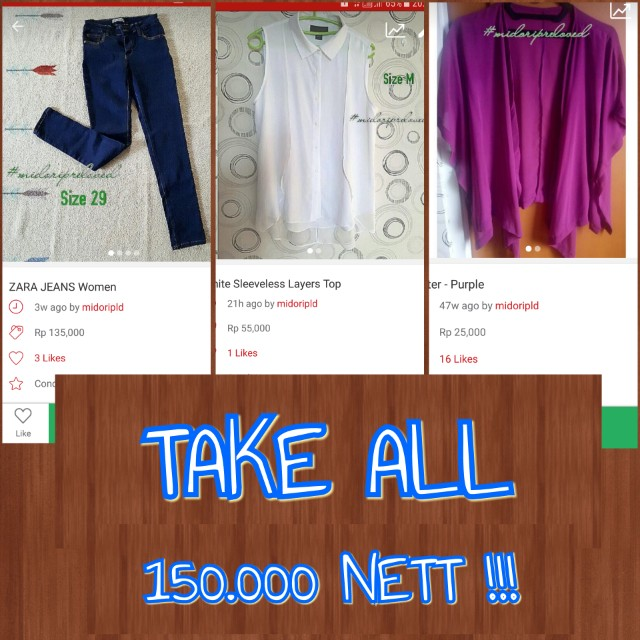 December Super Sale !! (8) Top and Jeans