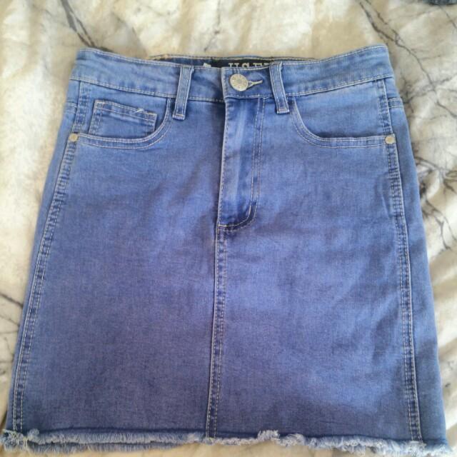 Denim Skirt by Used Denim