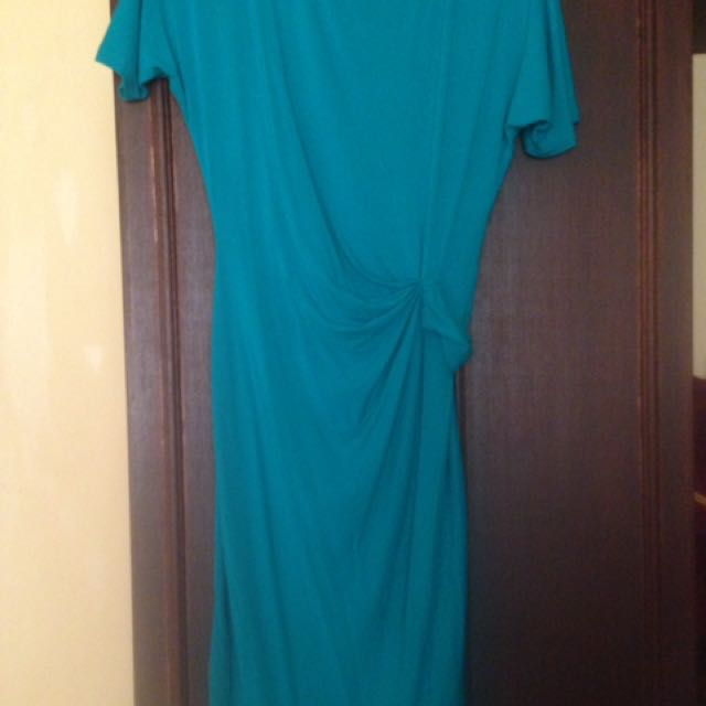 DKNY Teal Semi-formal Dress