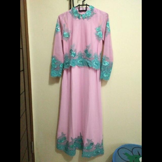 Dress Gamis Semi Kebaya Women S Fashion Women S Clothes On Carousell