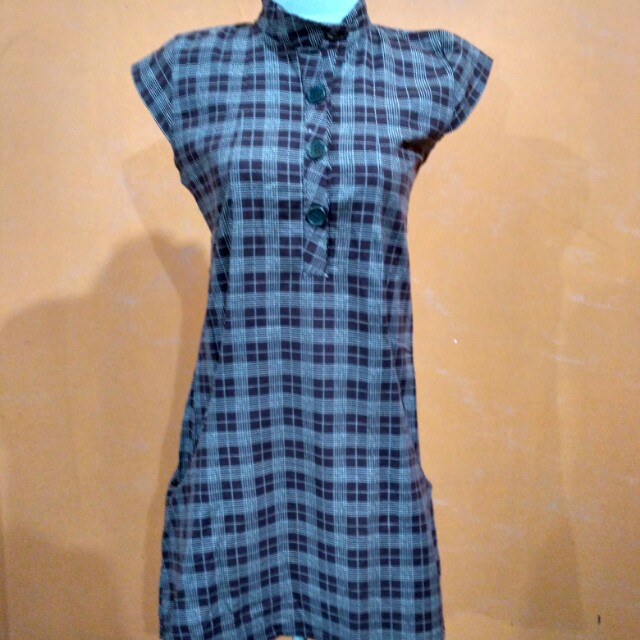 Dress katun denim