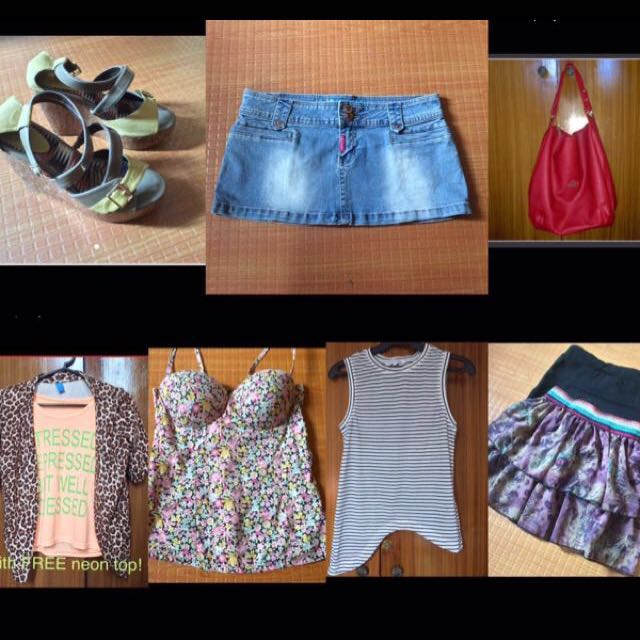 Dress Tops Shoes Bags (Forever 21, Zara, Topshop, H&M)