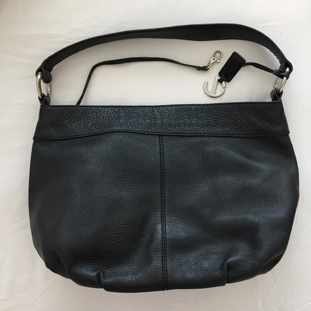 Eco Black Full Grain Leather Handbag Used but in good condition
