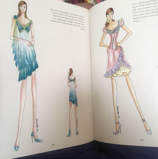 Elegan Busana Pesta Holly Ch Buku Sketsa Gaun Books