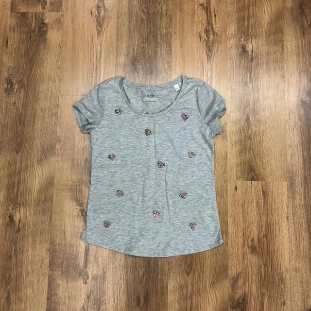ESPRIT Heart Glitter T-Shirt