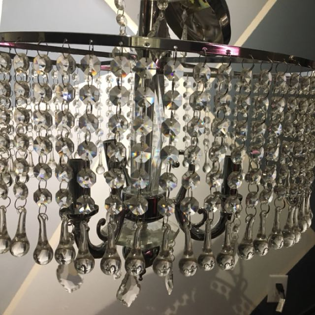 Faux crystal chandelier!