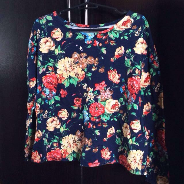 Floral Cotton sweater (choose any of 3 in my profile for 100)