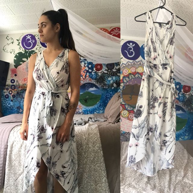 Flowy cross over dress