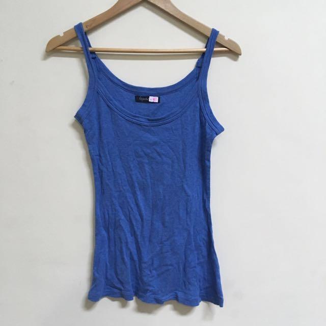 Folded & Hung Blue Tank Top