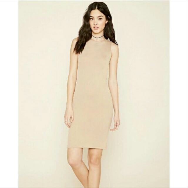 Forever 21 f21 stretch nude dress