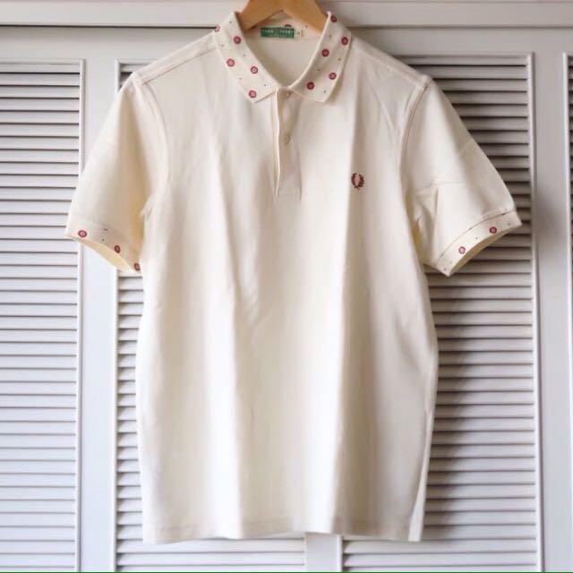 Fred Perry Cream Collard Shirt