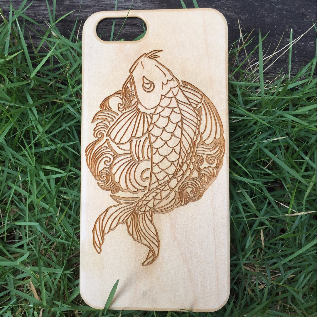 Genuine Wood Personalized Cases for iPhone and Samsung