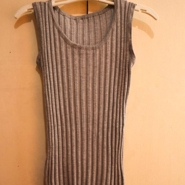 Gray Knitted Bodycon Dress