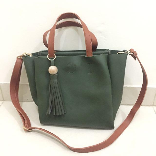 Green Army Boho Hand Bag