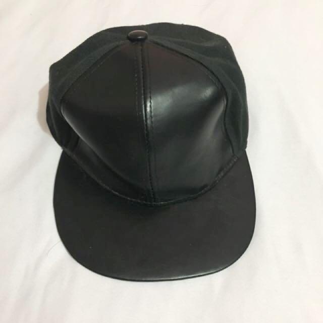 Half Leather Hat