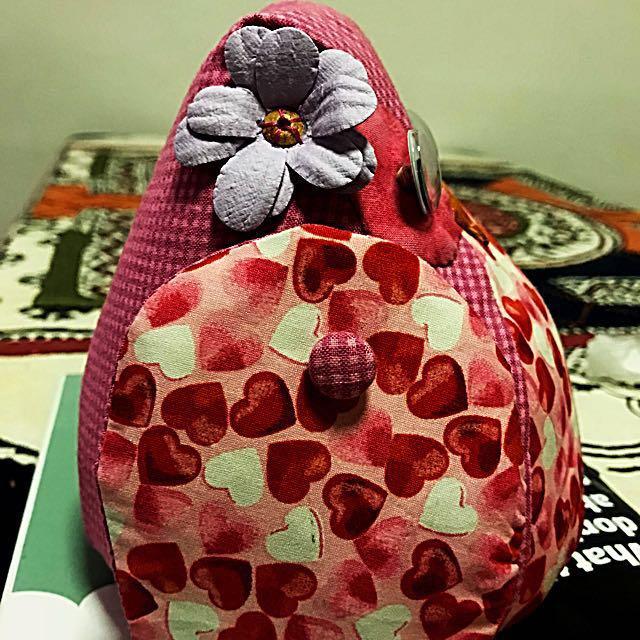 Handmade Fabric Owl Door Stopper