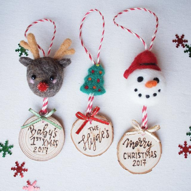 Handmade Personalized Ornament Perfect For Christmas!