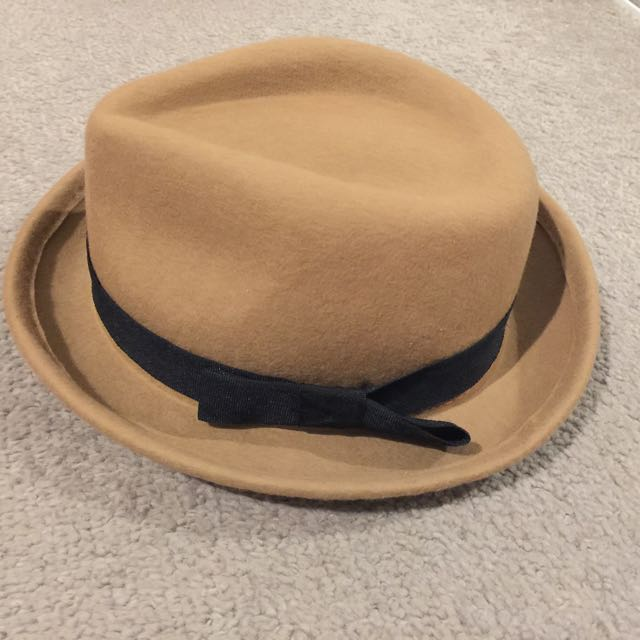Hat with ribbon
